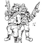 Rocksteady and Beebop bw