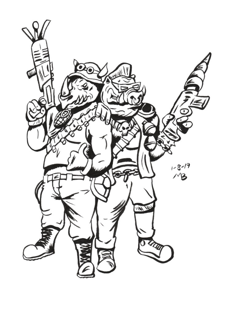 Rocksteady and Beebop