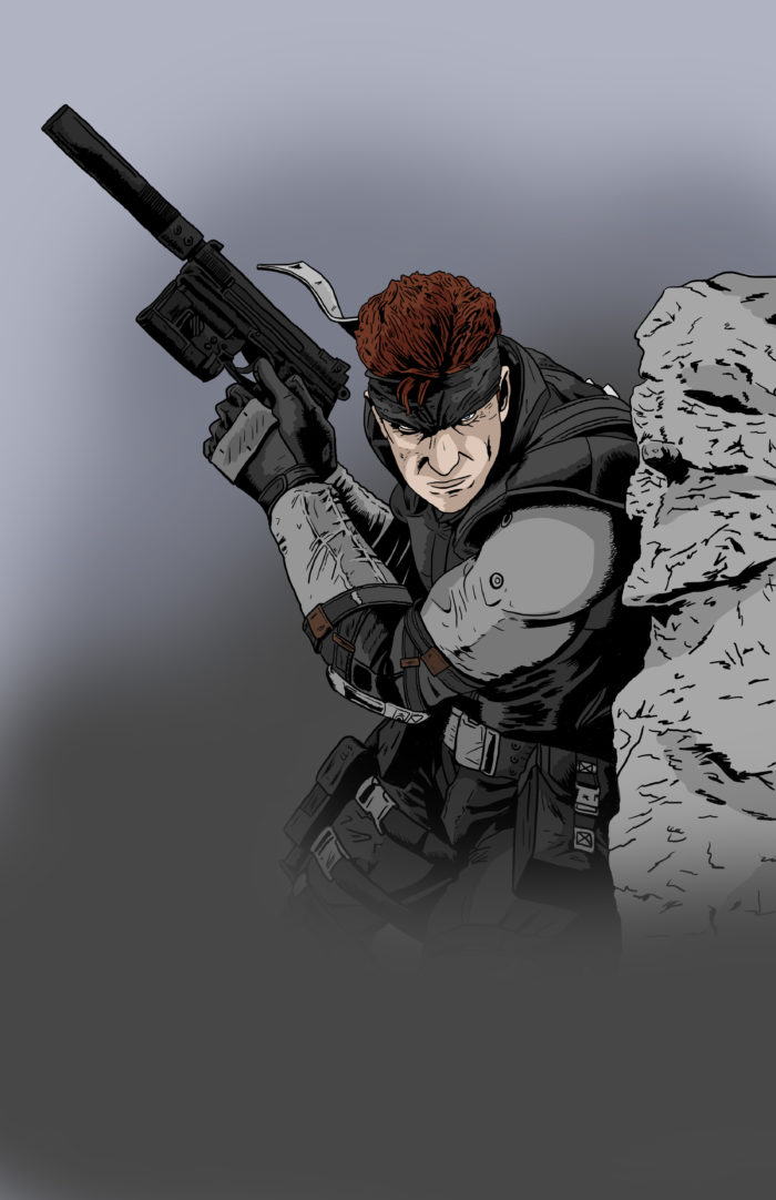 Solid Snake drawing