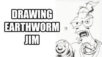 Drawing Earthworm Jim