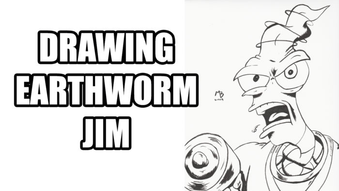 Drawing Earthworm Jim
