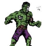 Zombie Hulk in color