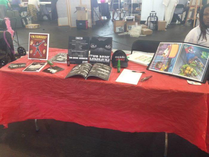 Black Snow Comics table