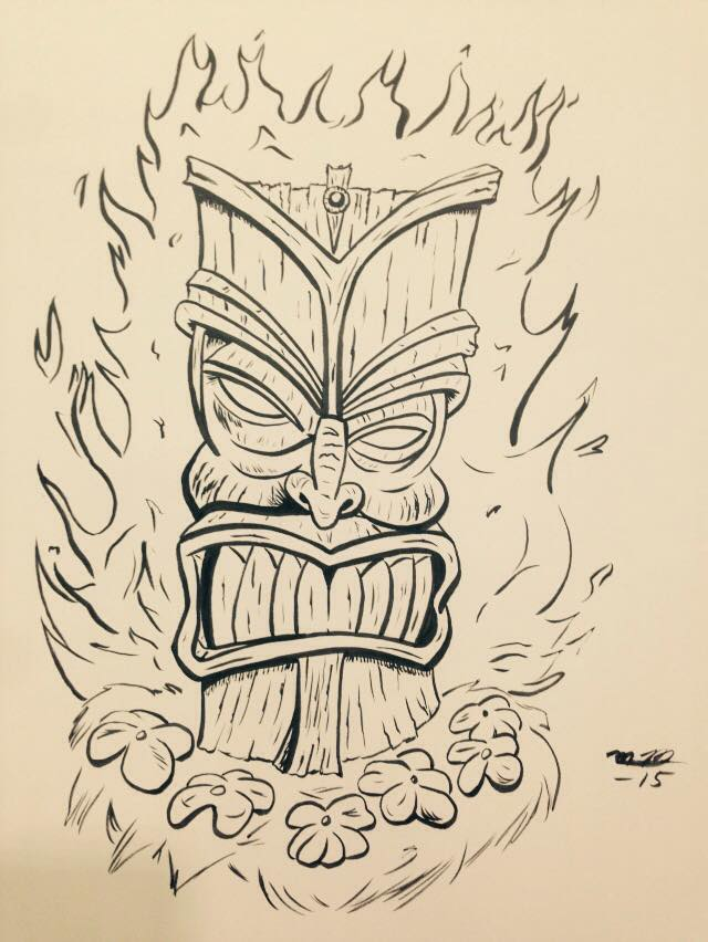 Con Sketch: Fire Tiki