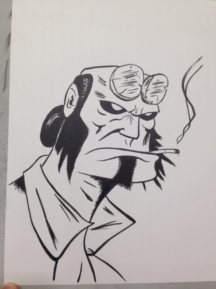 Con Sketch: Hellboy