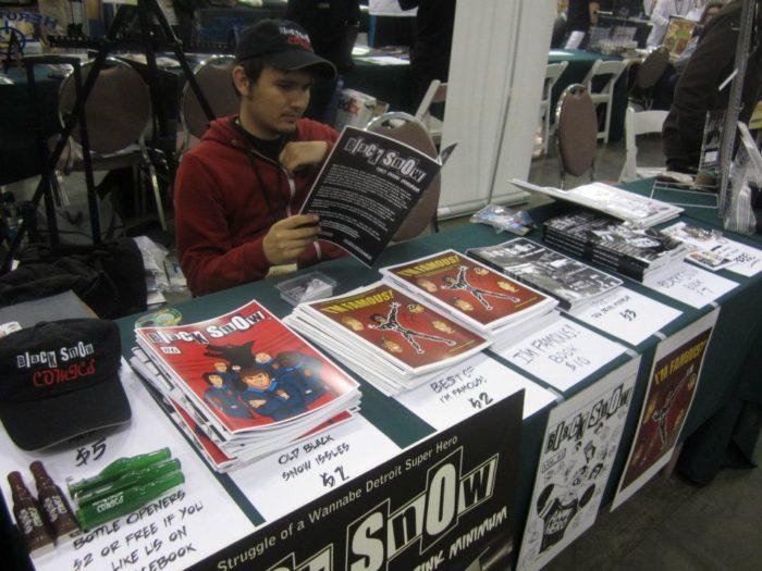 Alex Siquig at Black Snow Comics booth