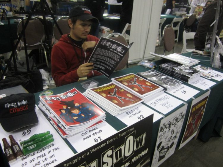 Alex Siquig at Black Snow Comics booth