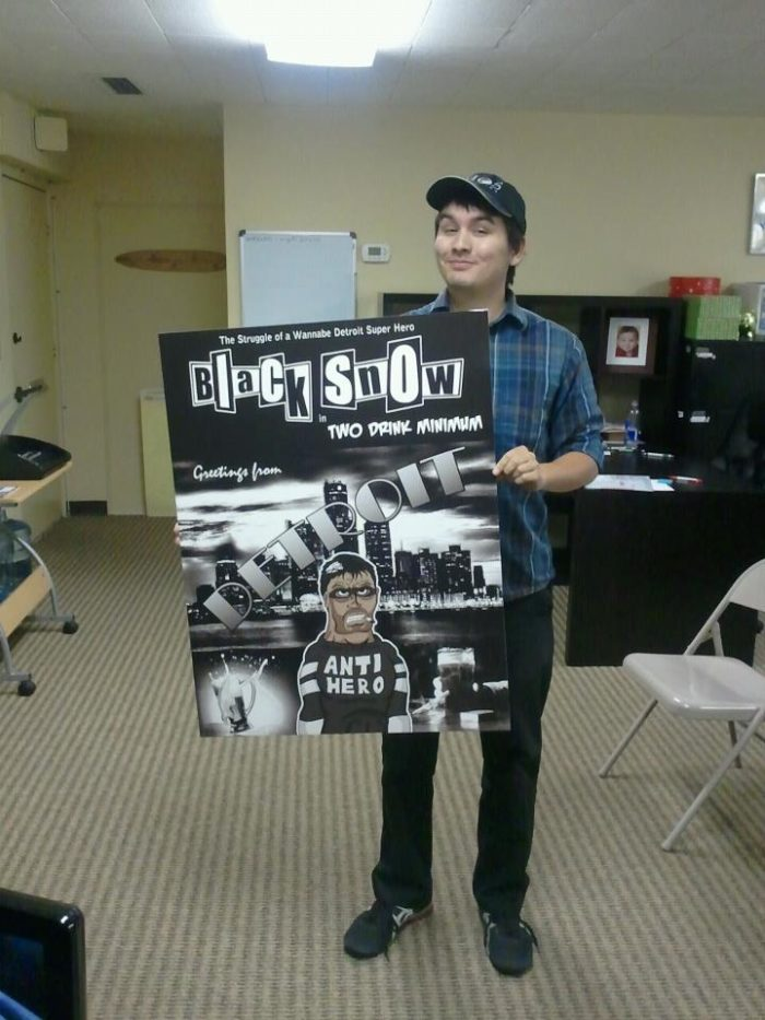 Alex with the Black Snow Comics poster