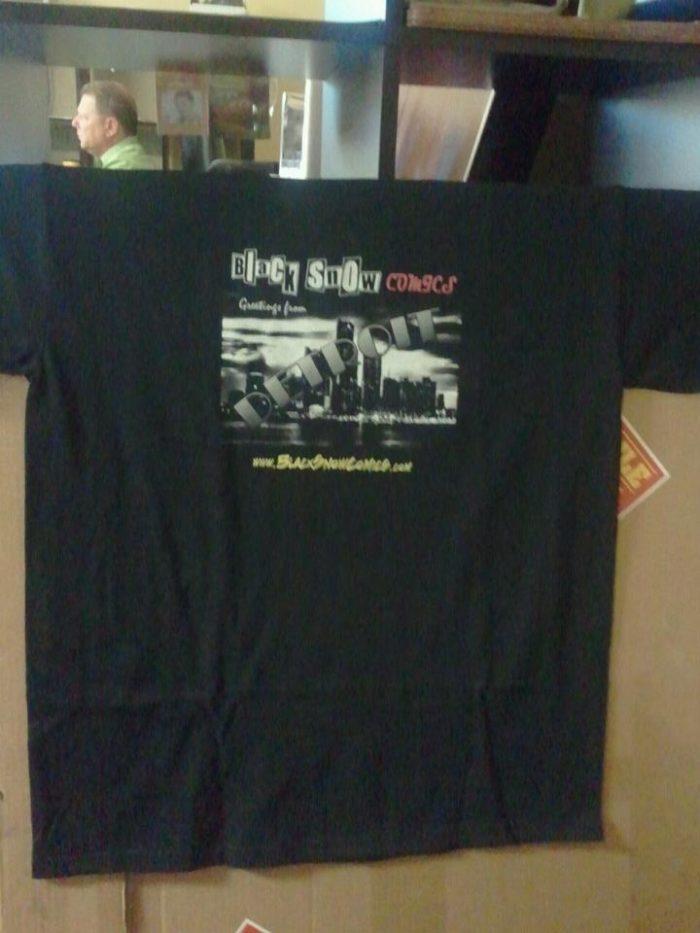 Black Snow Comics shirt