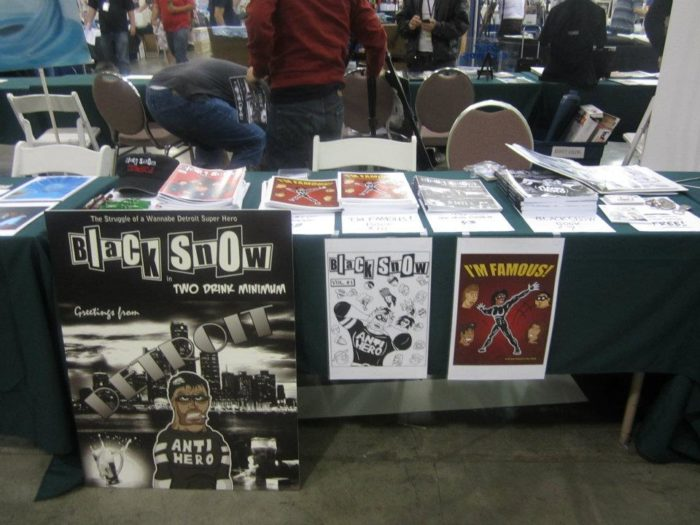 Black Snow Comics table at Big Wow