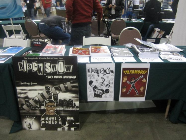 Black Snow Comics table at Big Wow