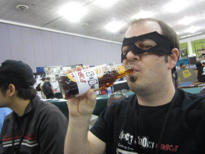 Drinking Black Snow Beer