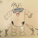 Ghostbusters fighting Stay Puft