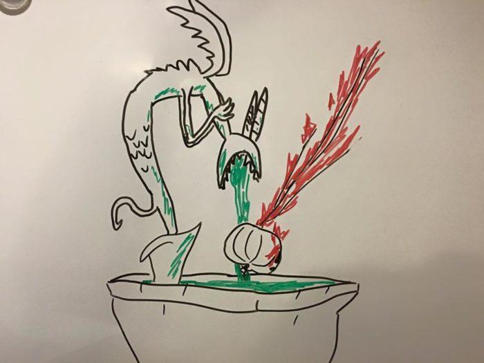 Nightmare Before Christmas fountain