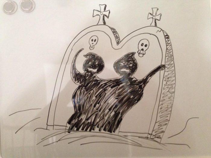 Nightmare Before Christmas tombstone shadows
