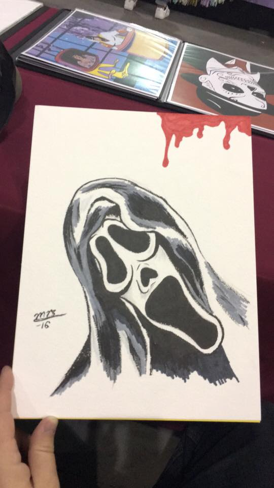 Scream colored sketch