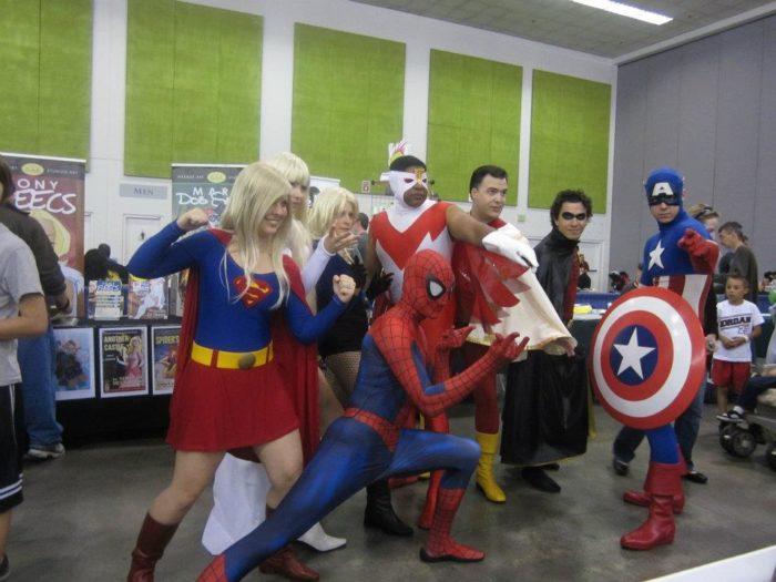 Superhero group cosplay