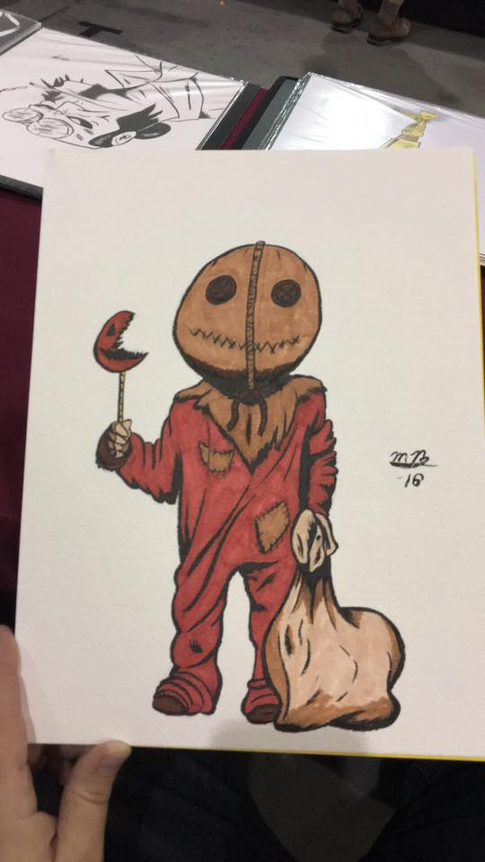 Trick R Treat colored sketch