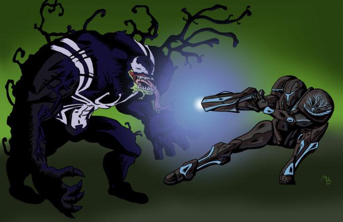 Venom vs Dark Samus