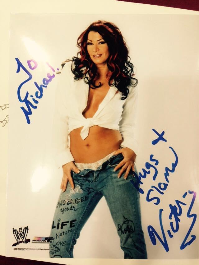 Victoria wrestler autograph