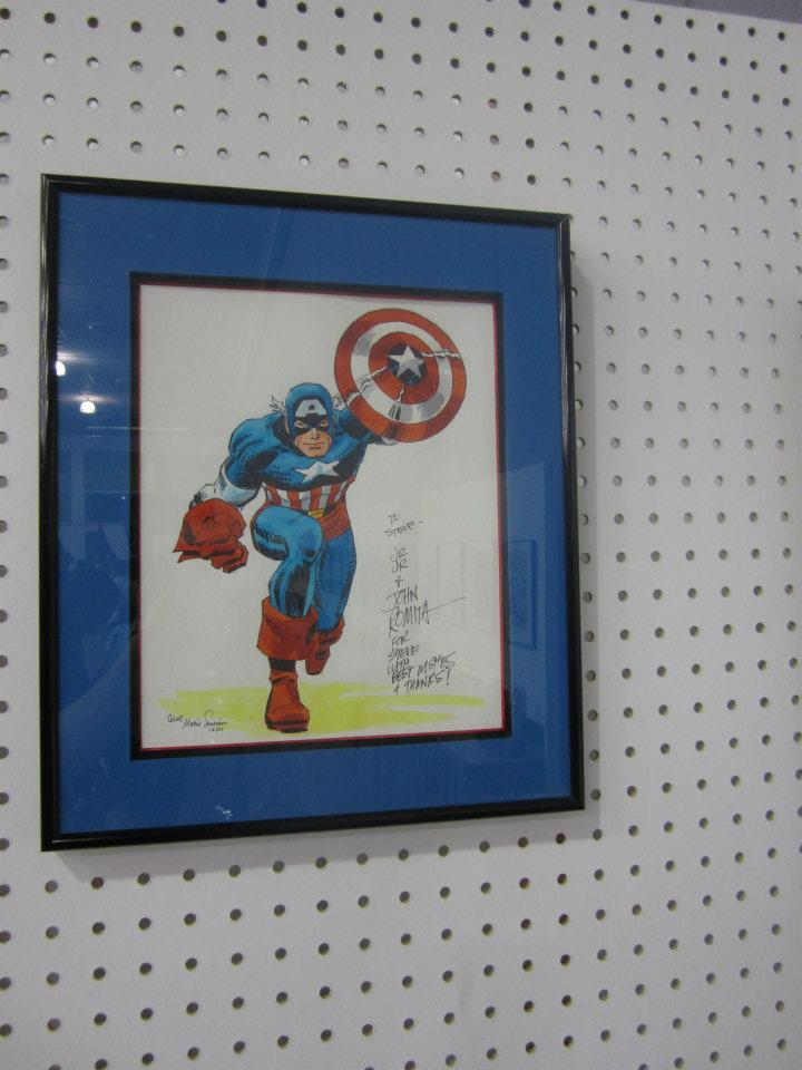 original Captain America drawing