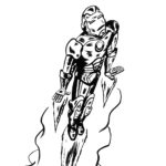Iron Man b&w