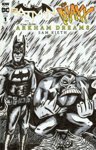 Batman - The Maxx Arkham Dreams Issue 1 Variant Sketch Cover