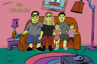 Drawing Family in Simpsons style