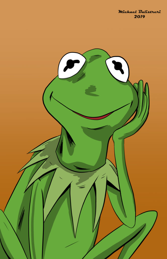 Kermit the Frog drawing