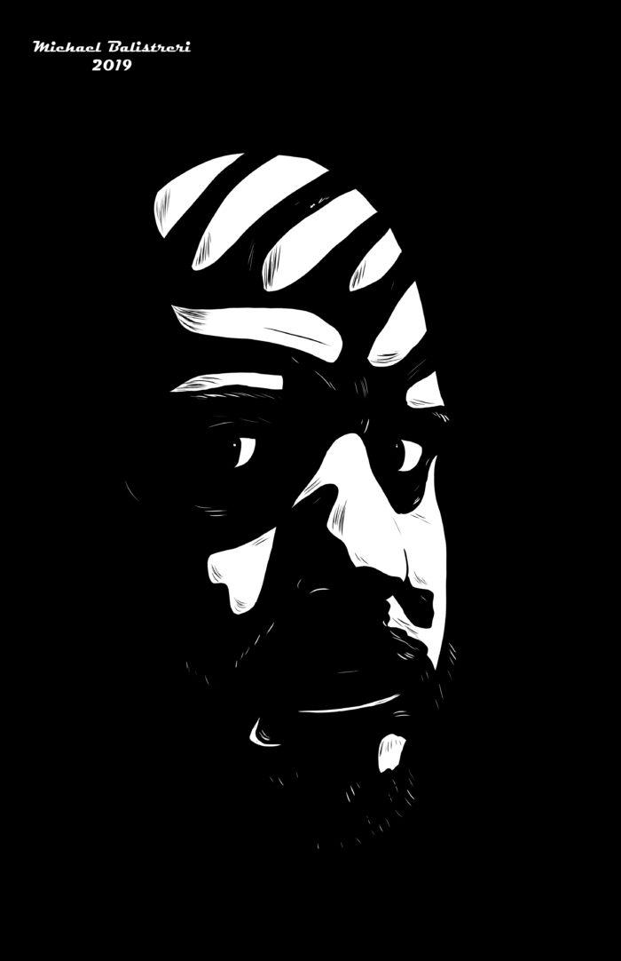 noir shadows self portrait
