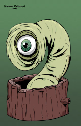 one-eyed forest creature