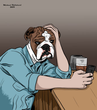 Sad Dog Man