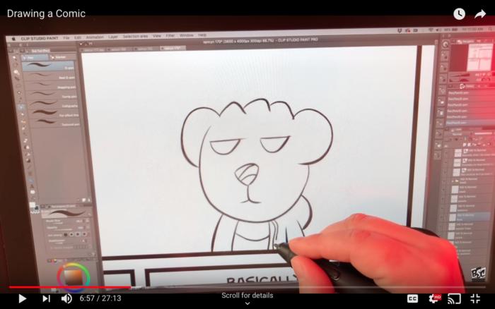 Drawing a Comic