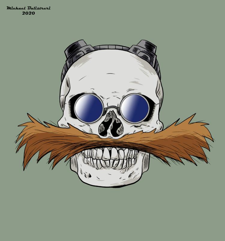 Dr. Robotnik Skull - Eggman Skull