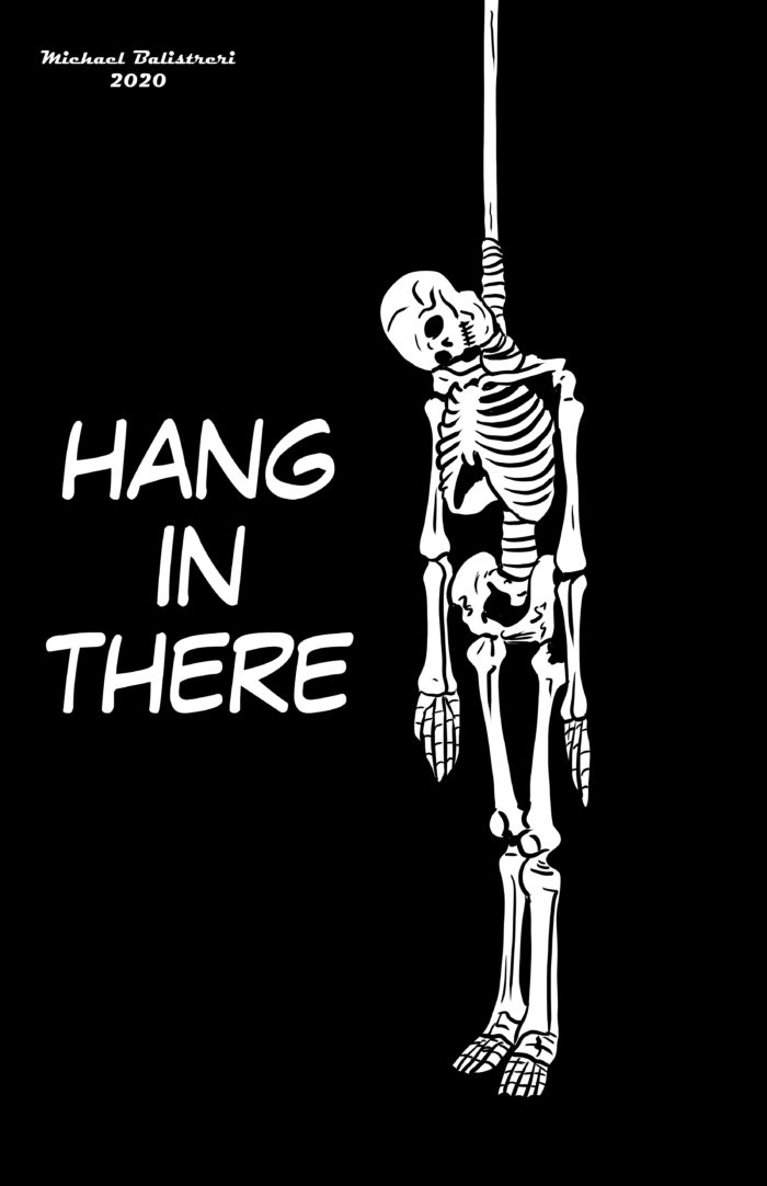 Hang in There Skeleton