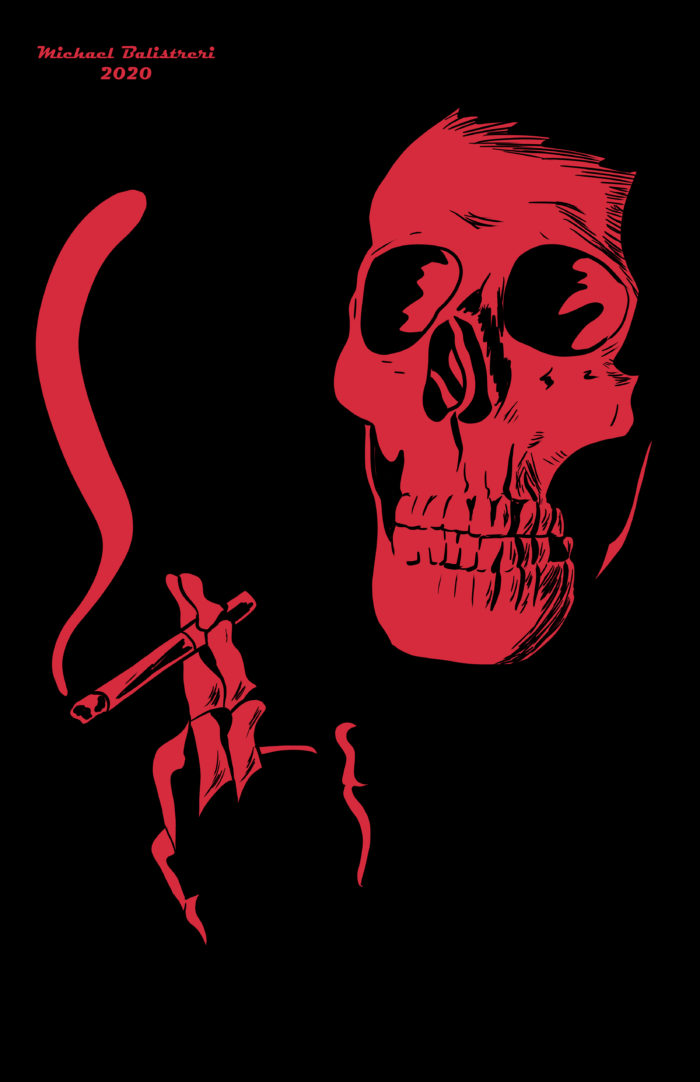 Smoking Skeleton