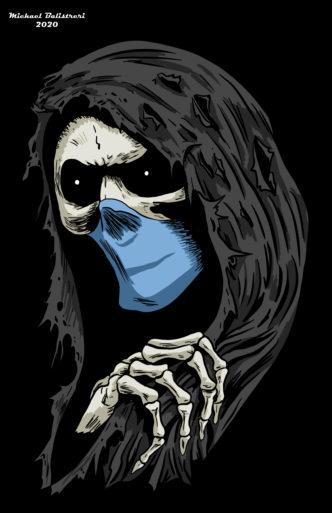 Grim Reaper Wearing Mask