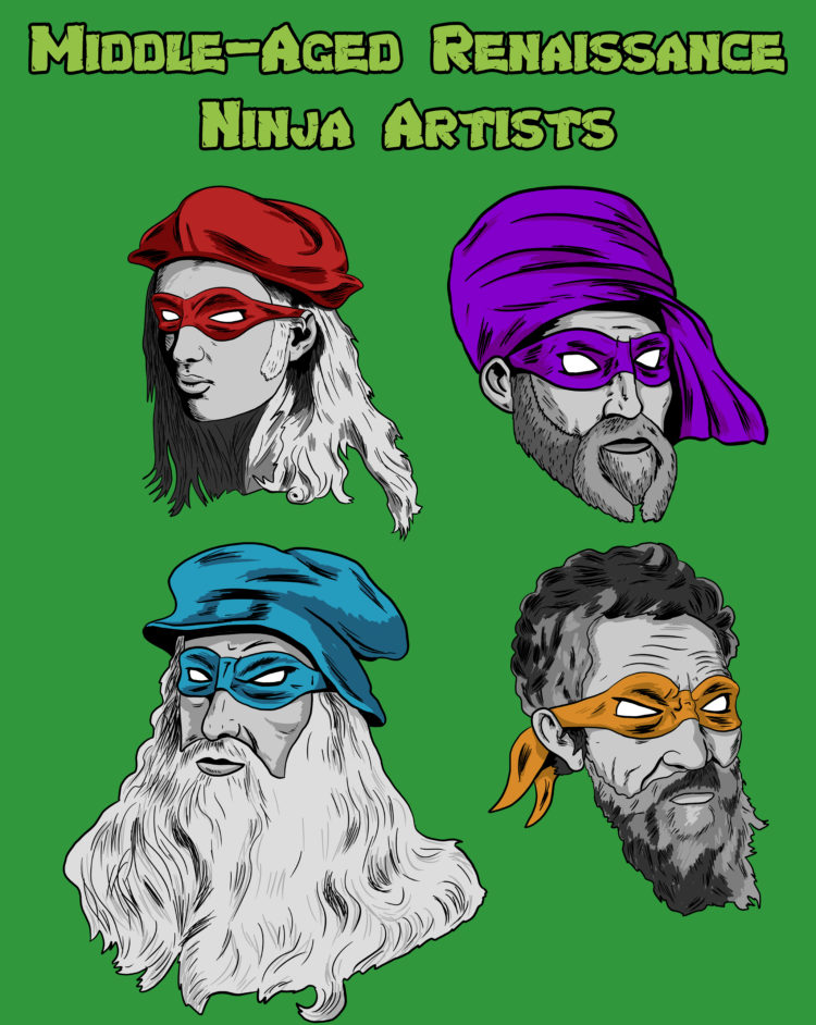 Middle-Aged Renaissance Ninja Artists