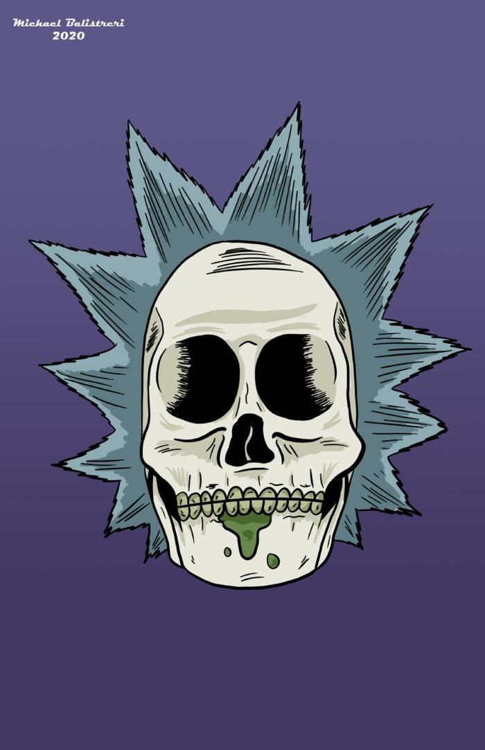 Rick Sanchez Skull