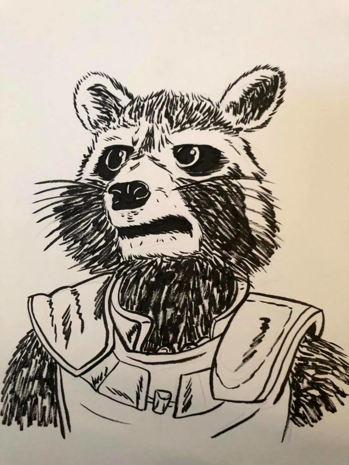 Inktober Day 16 Rocket