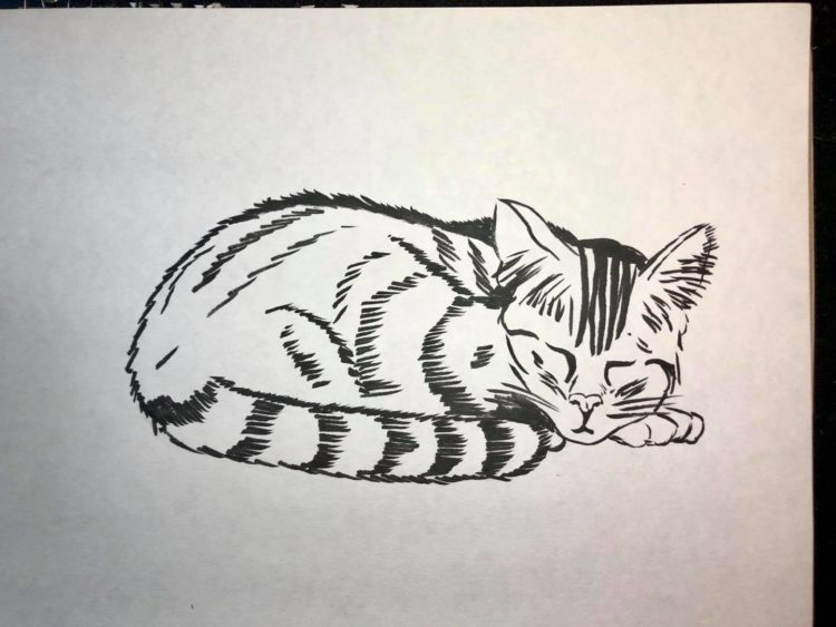 Inktober Day 21 Sleep