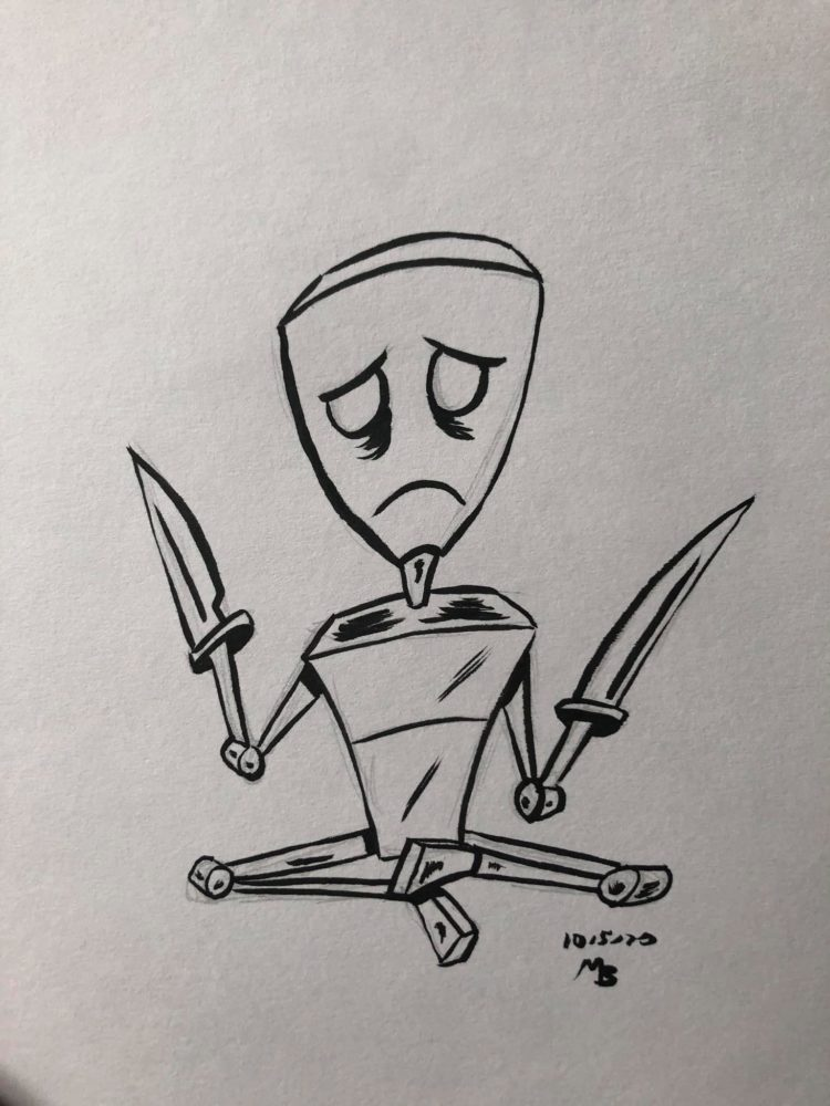 Inktober Day 5 Blade
