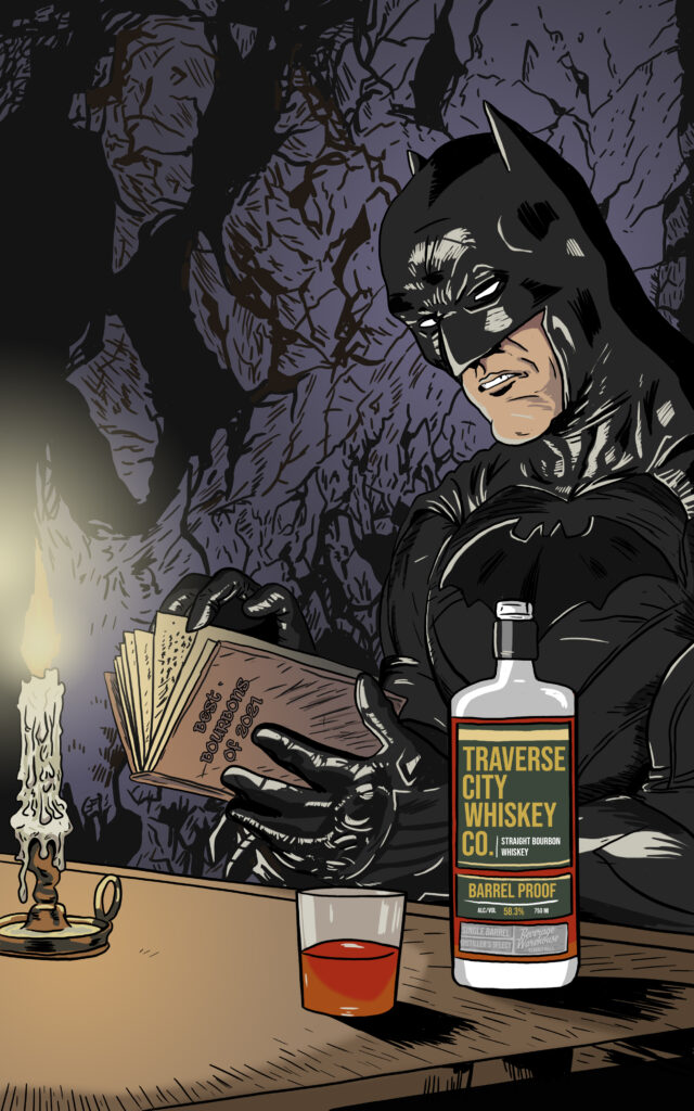 Batman Whiskey Label