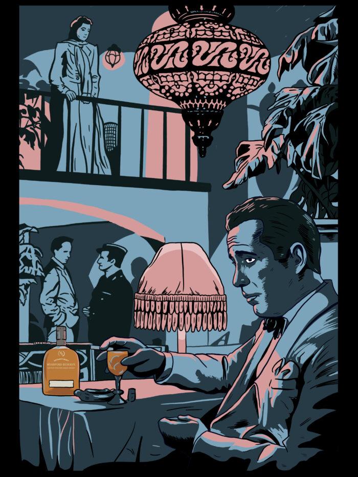 Casablanca Whiskey Label