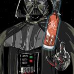 Darth Vader Whiskey Label