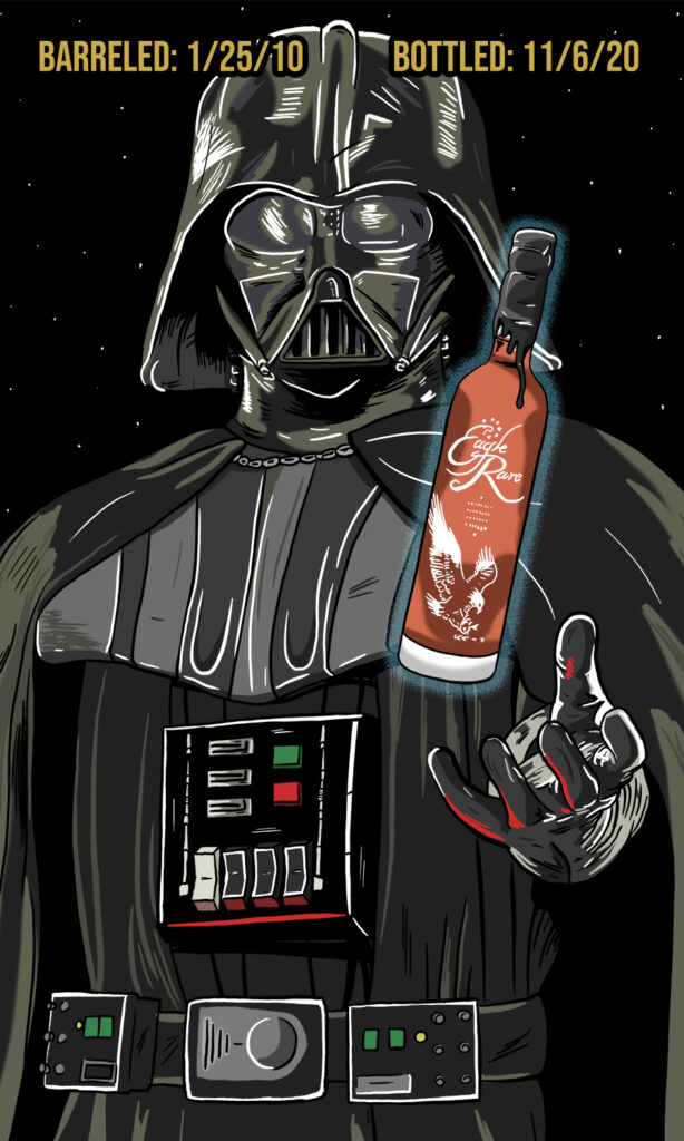 Darth Vader Whiskey Label
