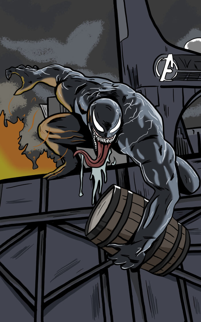 Venom Whiskey Label