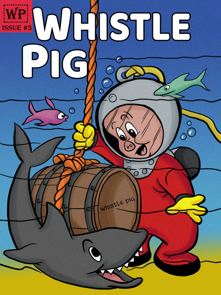 Porky Pig Comic Whiskey Label
