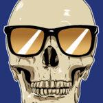 Skull-wearing-Sunglasses